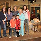 """Caitlin Carmichael at curtain call for """"Hot in Cleveland"""" January 2011"""