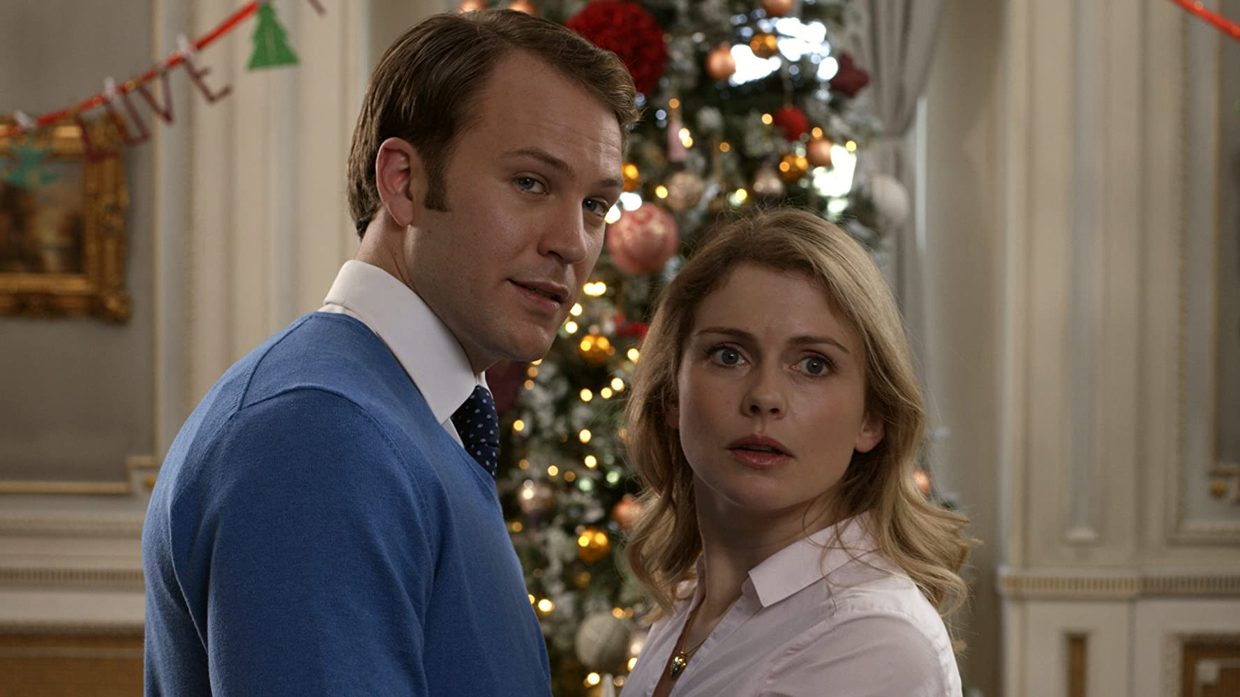 Rose McIver and Ben Lamb in A Christmas Prince: The Royal Wedding (2018)