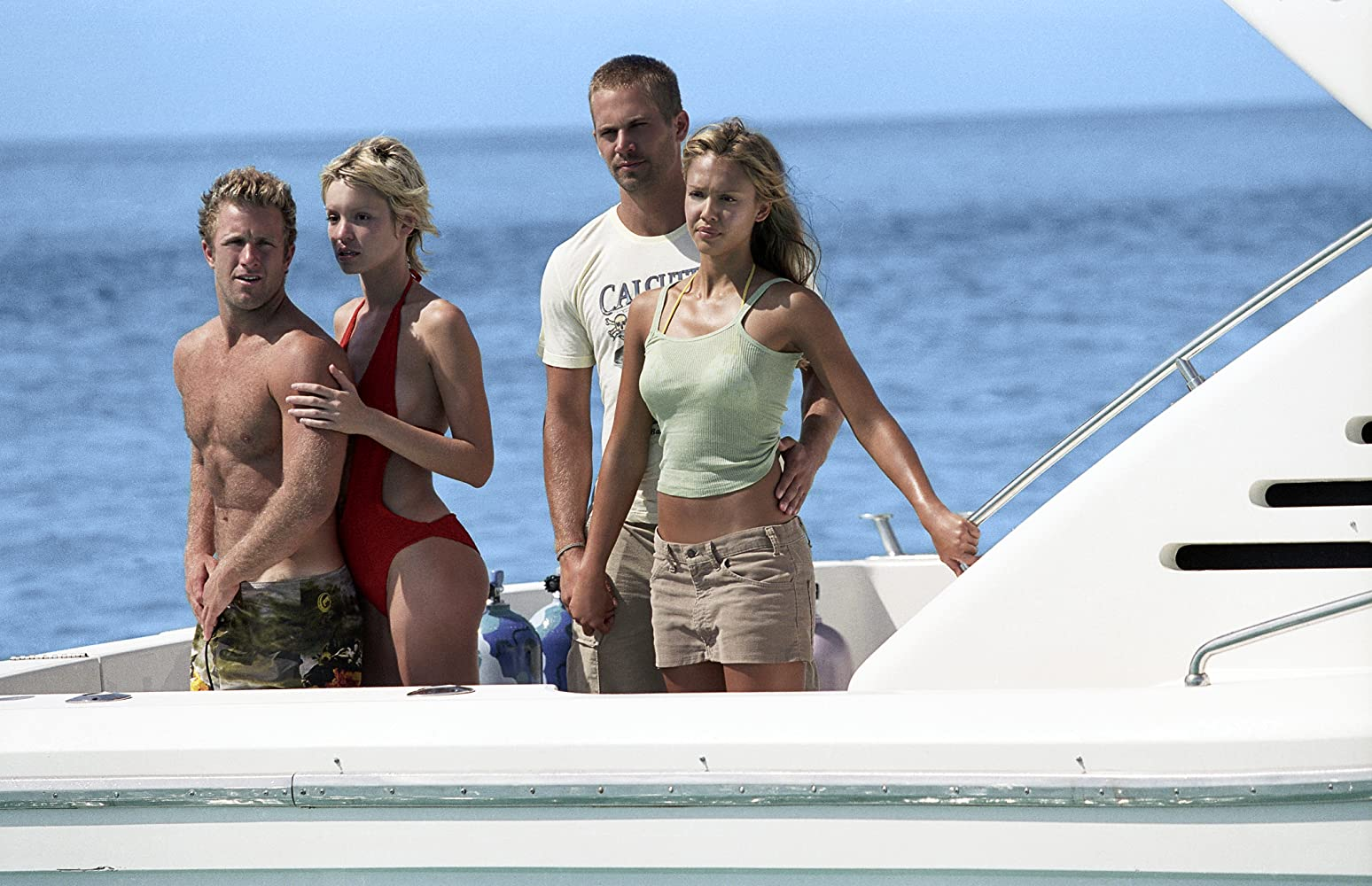 Jessica Alba, Scott Caan, Paul Walker, and Ashley Scott in Into the Blue (2005)