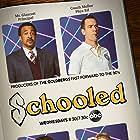 Tim Meadows, Bryan Callen, and AJ Michalka in Schooled (2019)