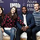 Stephanie Laing, Maribeth Monroe, Dave Hill, and Sam Richardson at an event for The IMDb Studio at Sundance (2015)