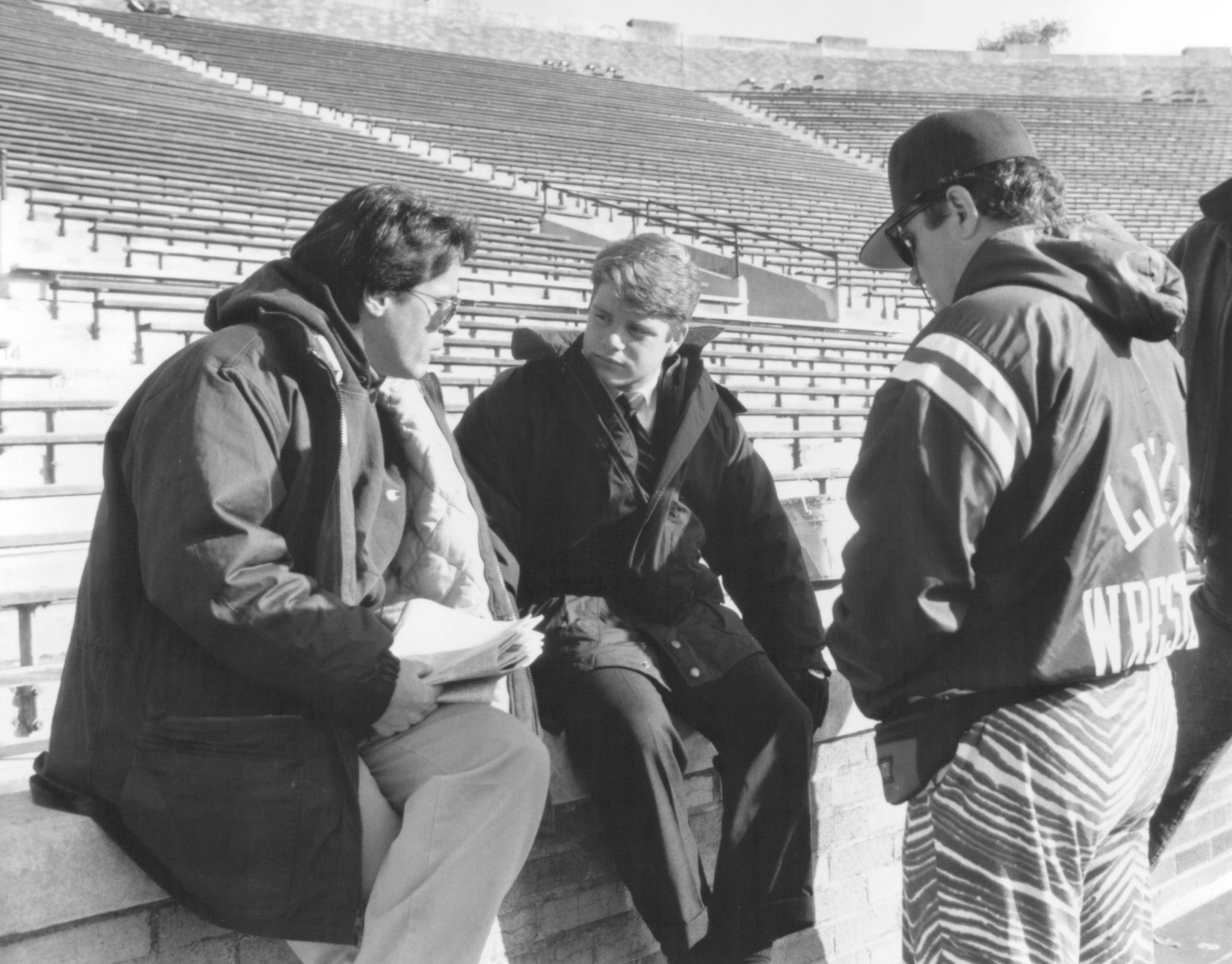 Sean Astin and David Anspaugh in Rudy (1993)