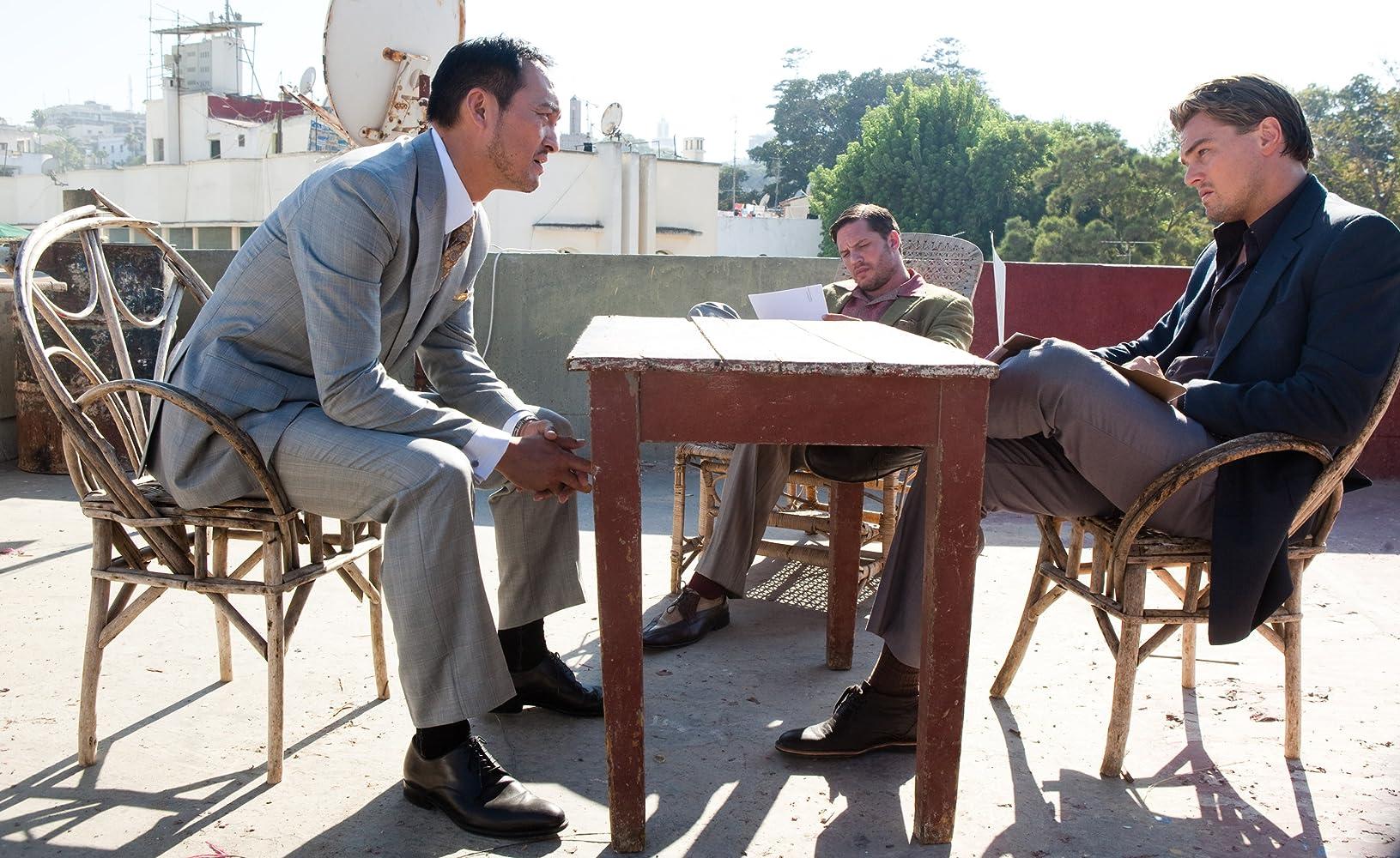 Leonardo DiCaprio, Tom Hardy, and Ken Watanabe in Inception (2010)
