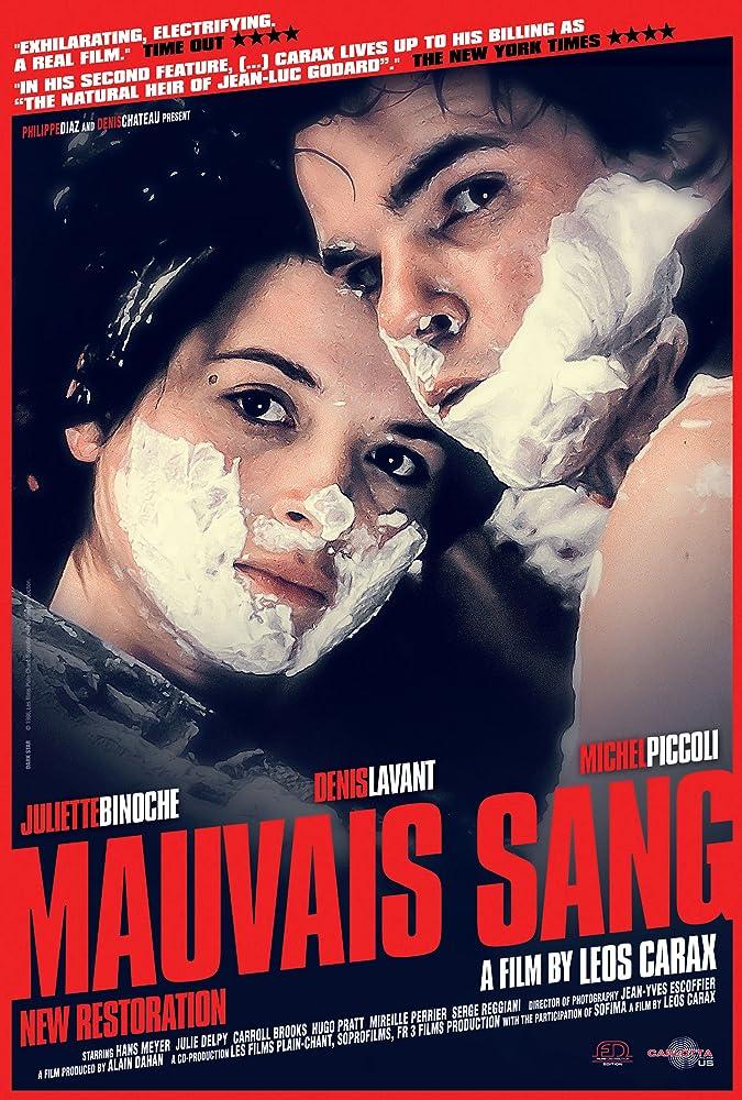 Juliette Binoche and Denis Lavant in Mauvais sang (1986)