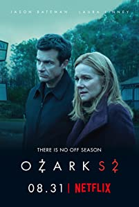 "In its second season, ""Ozark"" continues to follow Marty Bryde and his family as they navigate the murky waters of life within a dangerous drug cartel. With Del out, the crime syndicate sends their ruthless attorney Helen Pierce to town to shake things up just as The Byrdes are finally settling in. Marty and Wendy struggle to balance their family interests amid the escalating dangers presented by their partnerships with the power-hungry Snells, the cartel and their new deputy, Ruth Langmore, whose father Cade has been released from prison. The stakes are even higher than before and The Byrdes soon realize they have to go all in before they can get out."