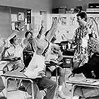 Mark Harmon, Courtney Thorne-Smith, Dean Cameron, Richard Steven Horvitz, and Shawnee Smith in Summer School (1987)