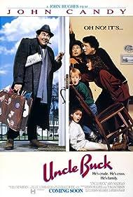Macaulay Culkin, Gaby Hoffmann, John Candy, Amy Madigan, Elaine Bromka, Garrett M. Brown, and Jean Louisa Kelly in Uncle Buck (1989)