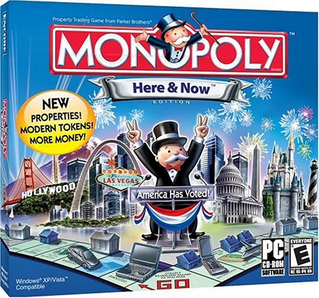 Monopoly: here and now edition   board games.