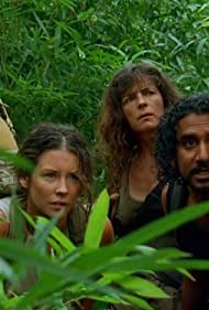 Mira Furlan, Naveen Andrews, Terry O'Quinn, and Evangeline Lilly in Lost (2004)