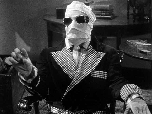 Image result for claude rains as the invisible man