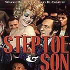 Wilfrid Brambell, Harry H. Corbett, and Carolyn Seymour in Steptoe & Son (1972)