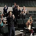 Lea Michele, Matthew Morrison, Harry Shum Jr., Cory Monteith, Darren Criss, Kevin McHale, Chris Colfer, Jenna Ushkowitz, Amber Riley, and Chord Overstreet in Glee (2009)