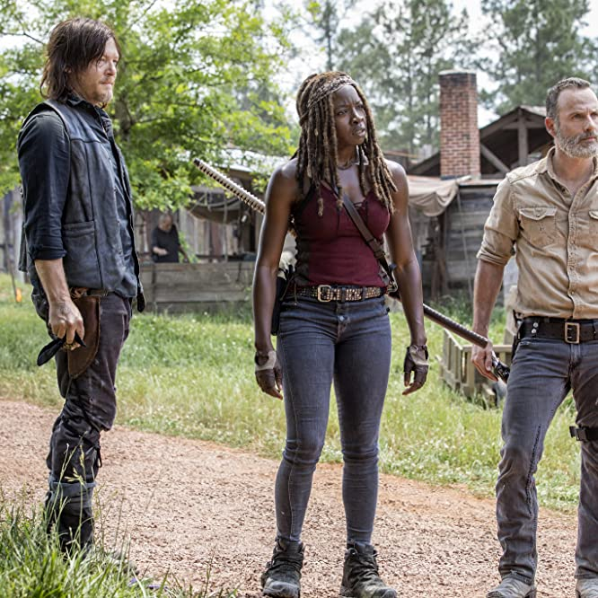 Norman Reedus, Andrew Lincoln, and Danai Gurira in The Walking Dead (2010)