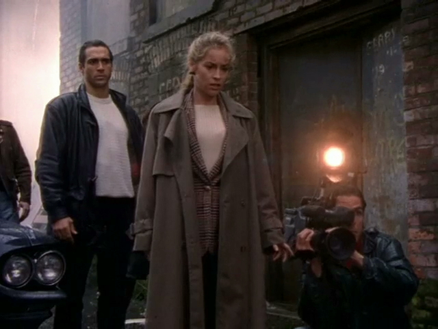 Still of Adrian Paul and Amanda Wyss in Highlander and See No Evil
