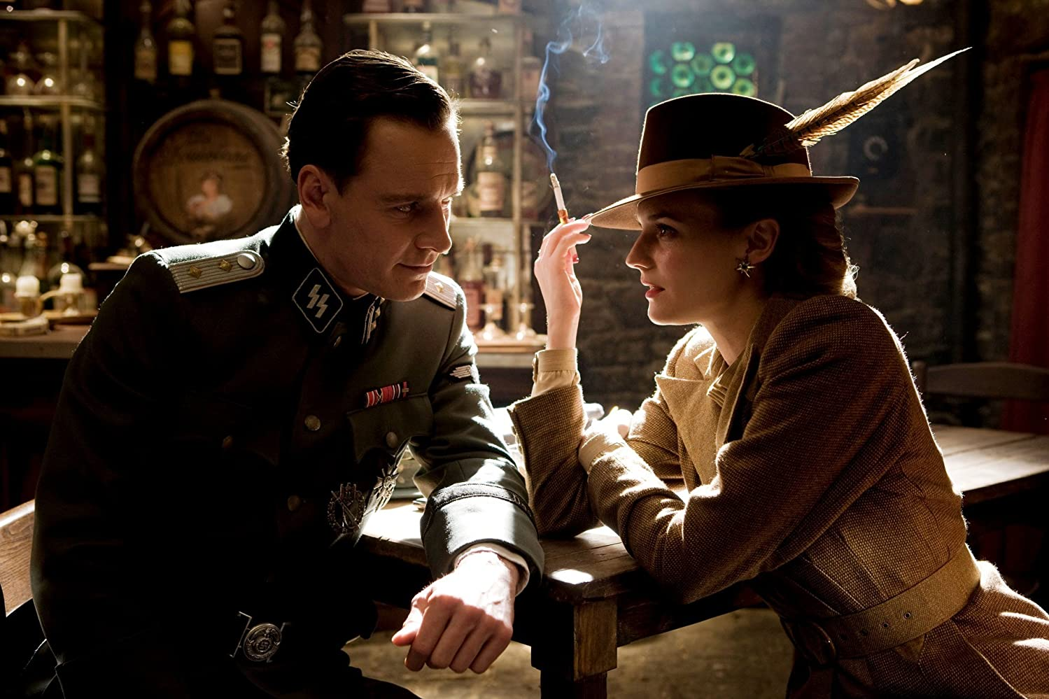 Michael Fassbender and Diane Kruger in Inglourious Basterds (2009)