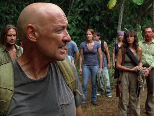 Mira Furlan, Michael Emerson, Josh Holloway, Terry O'Quinn, and Rebecca Mader in Lost (2004)
