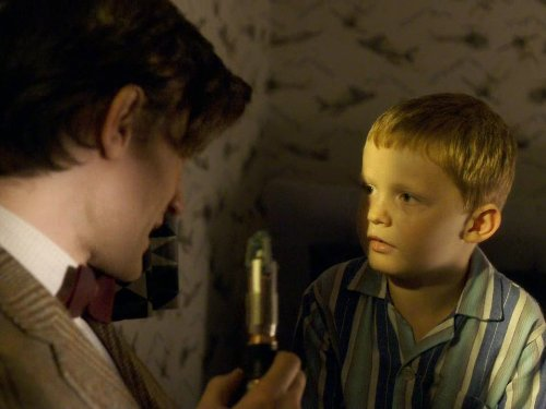 Matt Smith and Jamie Oram in Doctor Who (2005)