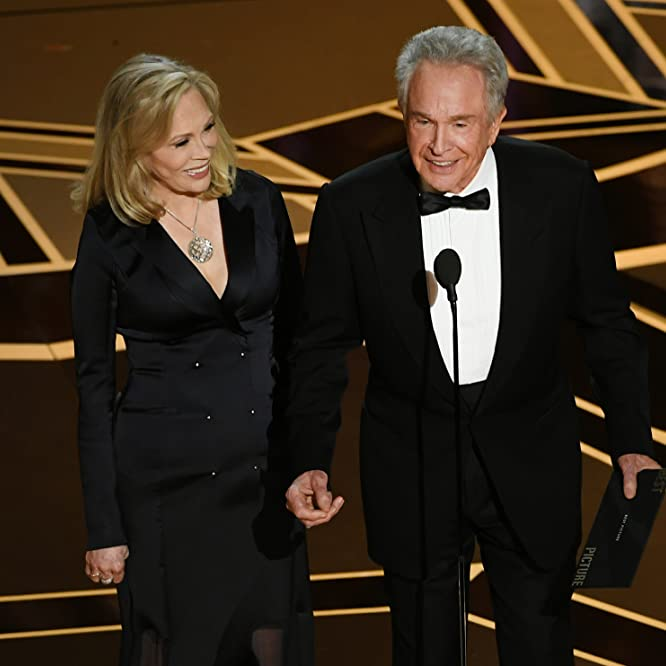 Warren Beatty and Faye Dunaway at an event for The Oscars (2018)