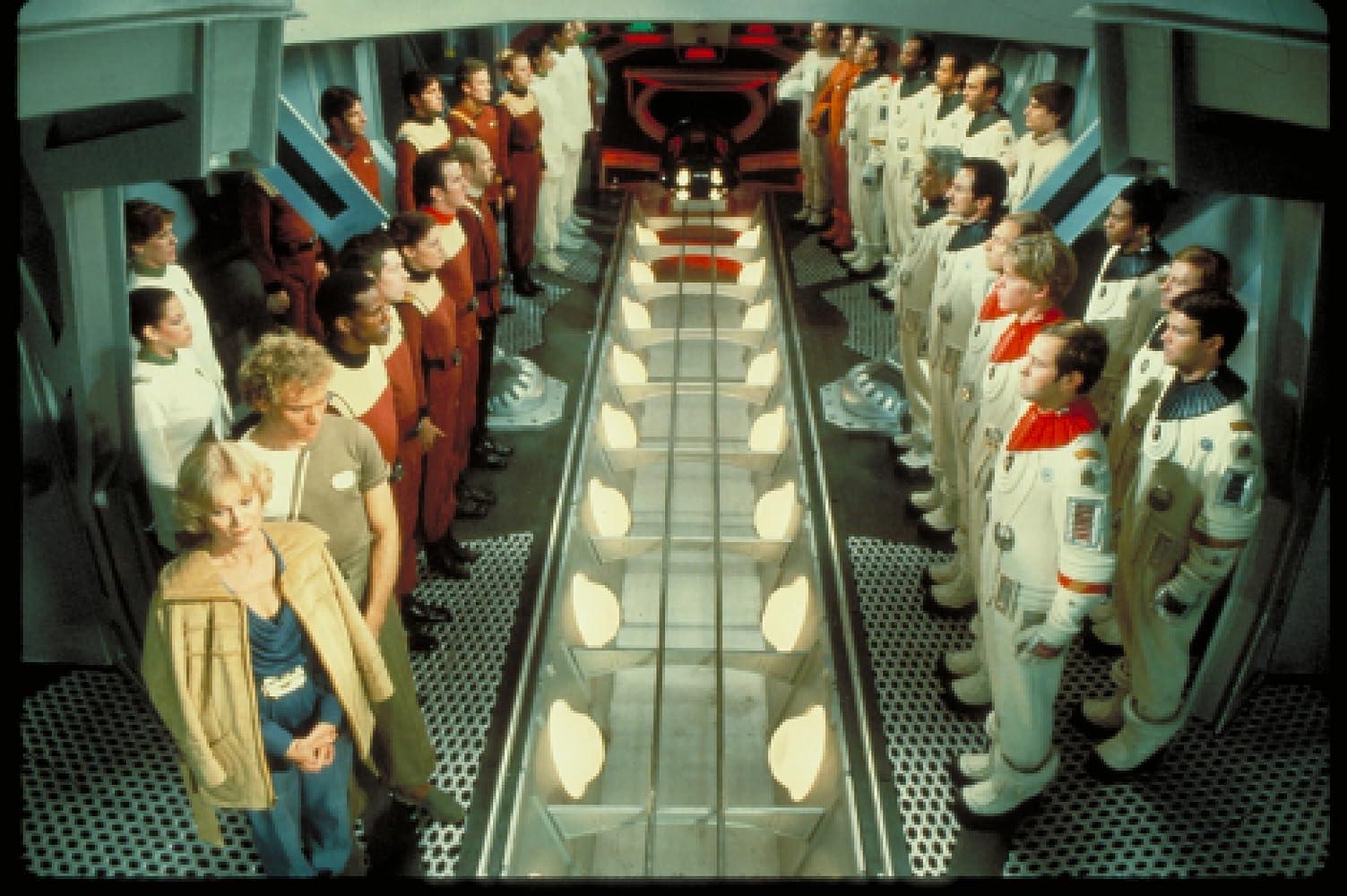 Bibi Besch Merritt Butrick Kevin Rodney Sullivan and Philip Weyland in Star Trek II The Wrath of Khan 1982