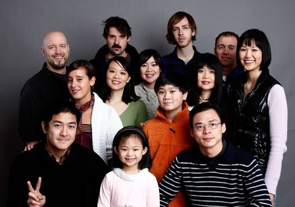 Cast and crew at Sundance event of Children of Invention