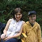 Nicole de Boer and Gig on the set of Christmas Town 2008