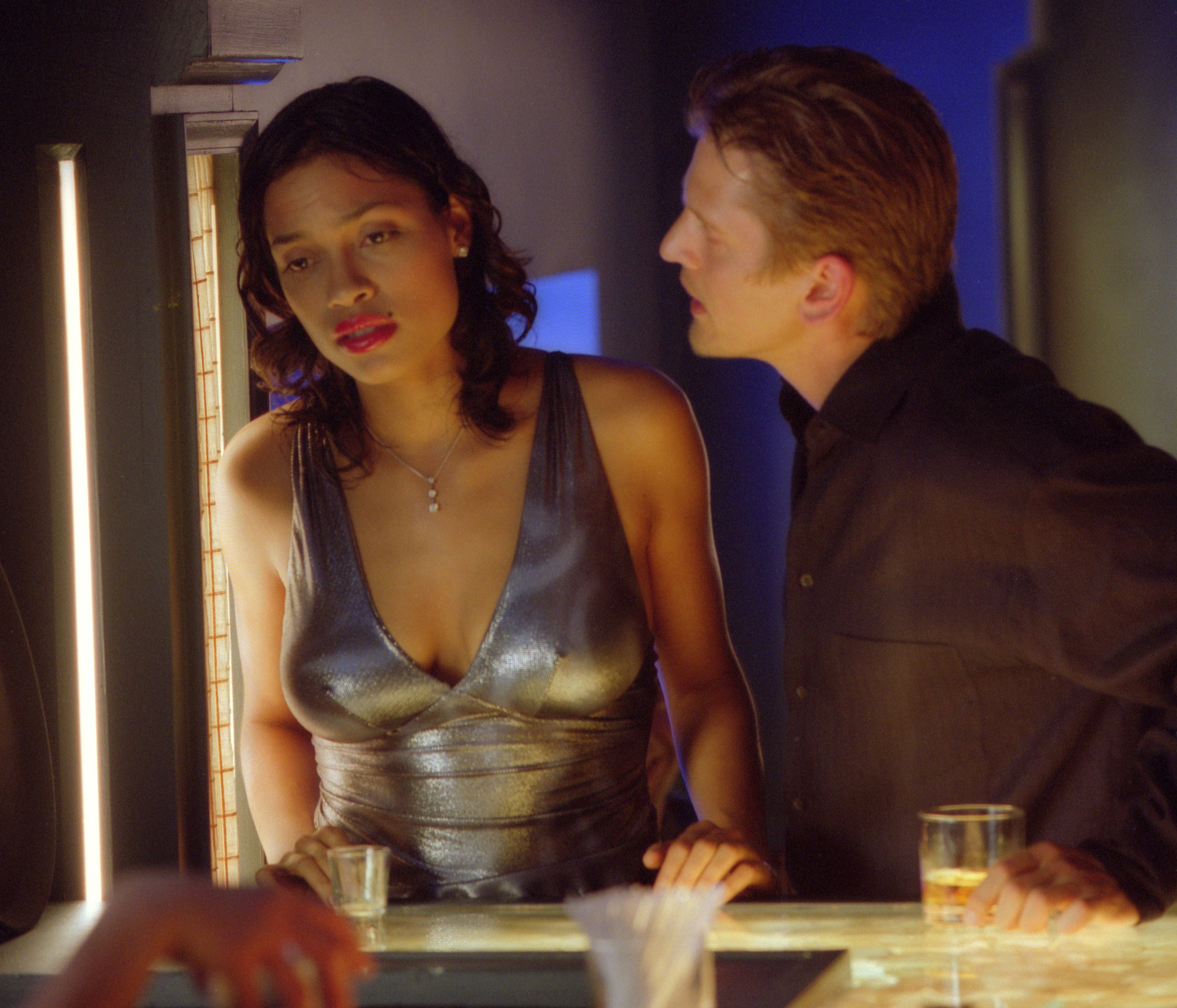 Barry Pepper and Rosario Dawson in 25th Hour (2002)