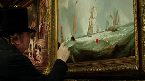 Mr. Turner explores the last quarter century of the great if eccentric British painter J.M.W. Turner (1775-1851). Profoundly affected by the death of his father, loved by a housekeeper he takes for granted and occasionally exploits sexually, he forms a close relationship with a seaside landlady with whom he eventually lives incognito in Chelsea, where he dies. Throughout this, he travels, paints, stays with the country aristocracy, visits brothels, is a popular if anarchic member of the Royal Academy of Arts, has himself strapped to the mast of a ship so that he can paint a snowstorm, and is both celebrated and reviled by the public and by royalty.