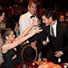 Amanda Peet, Pedro Pascal, and David Benioff at an event for The 67th Primetime Emmy Awards (2015)