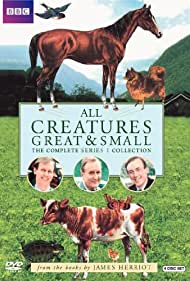 Peter Davison, Robert Hardy, and Christopher Timothy in All Creatures Great & Small (1978)