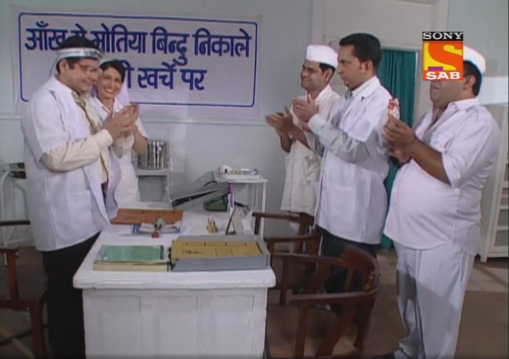 Deven Bhojani, Sanjay Mishra, Manoj Pahwa, Hemant Pandey, and Asawari Joshi in Office Office (2000)