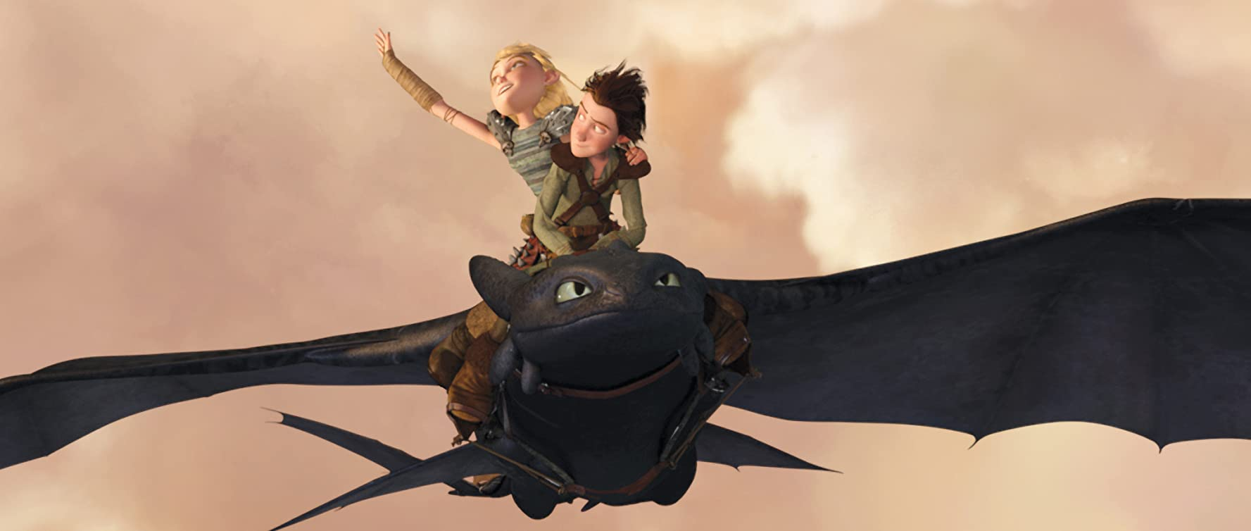 Jay Baruchel and America Ferrera in How to Train Your Dragon 2010