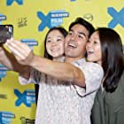 Samantha Futerman, Ryan Miyamoto, and Anaïs Bordier at an event for Twinsters (2015)