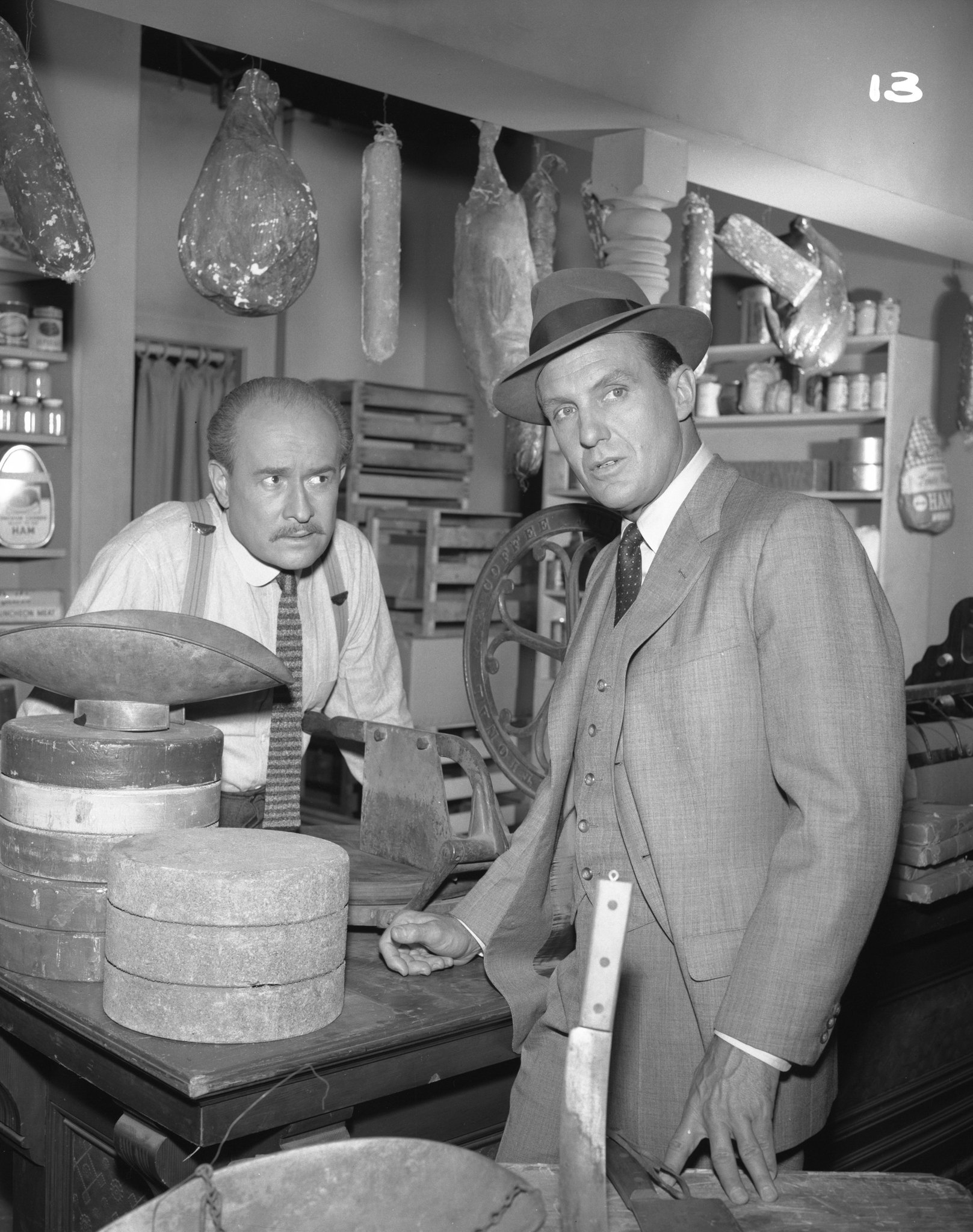 Robert Stack and George Voskovec in The Untouchables (1959)