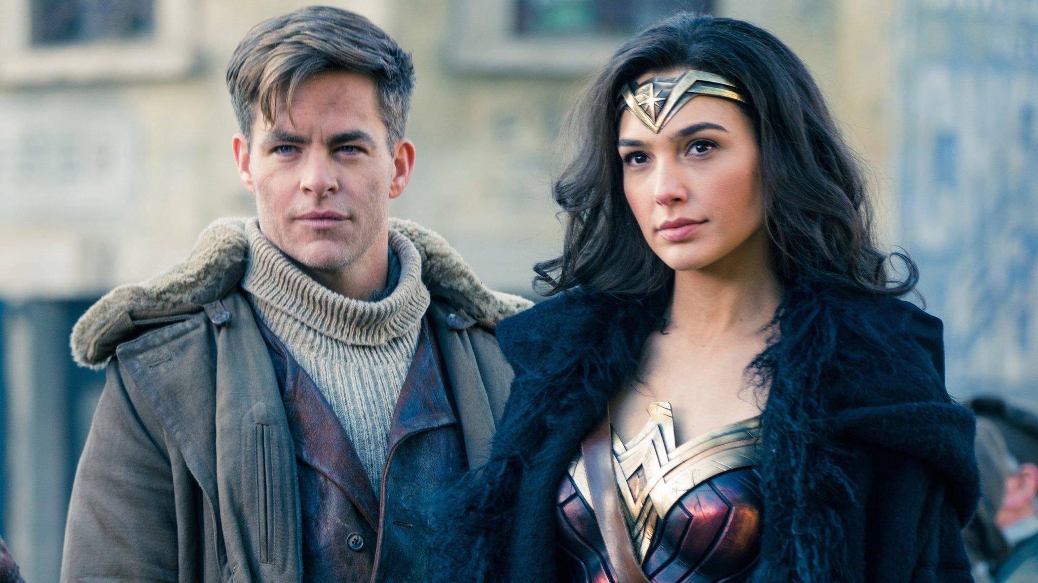 Chris Pine and Gal Gadot in Wonder Woman (2017)