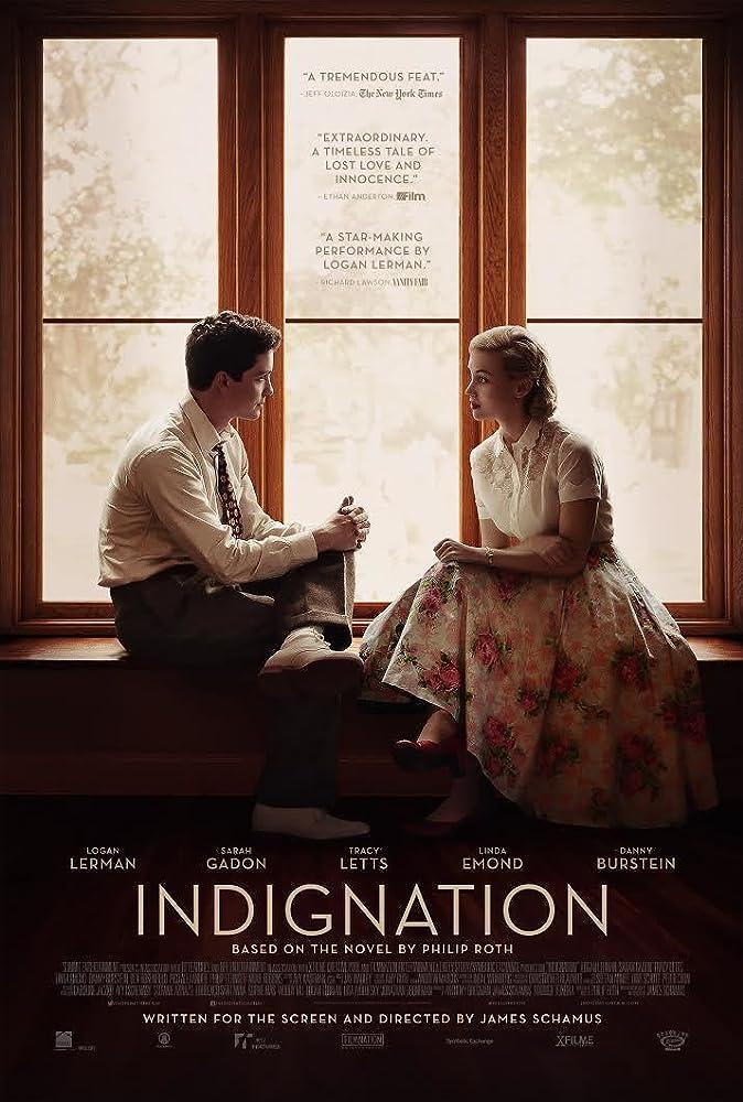 Sarah Gadon and Logan Lerman in Indignation (2016)