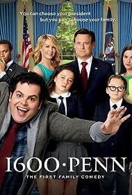 Bill Pullman, Jenna Elfman, Martha MacIsaac, Josh Gad, André Holland, Benjamin Stockham, and Amara Miller in 1600 Penn (2012)