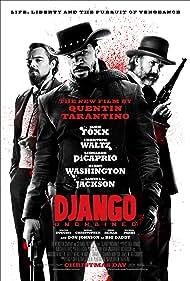 Leonardo DiCaprio, Jamie Foxx, and Christoph Waltz in Django Unchained (2012)