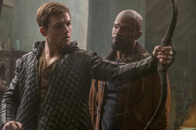 Jamie Foxx and Taron Egerton in Robin Hood (2018)