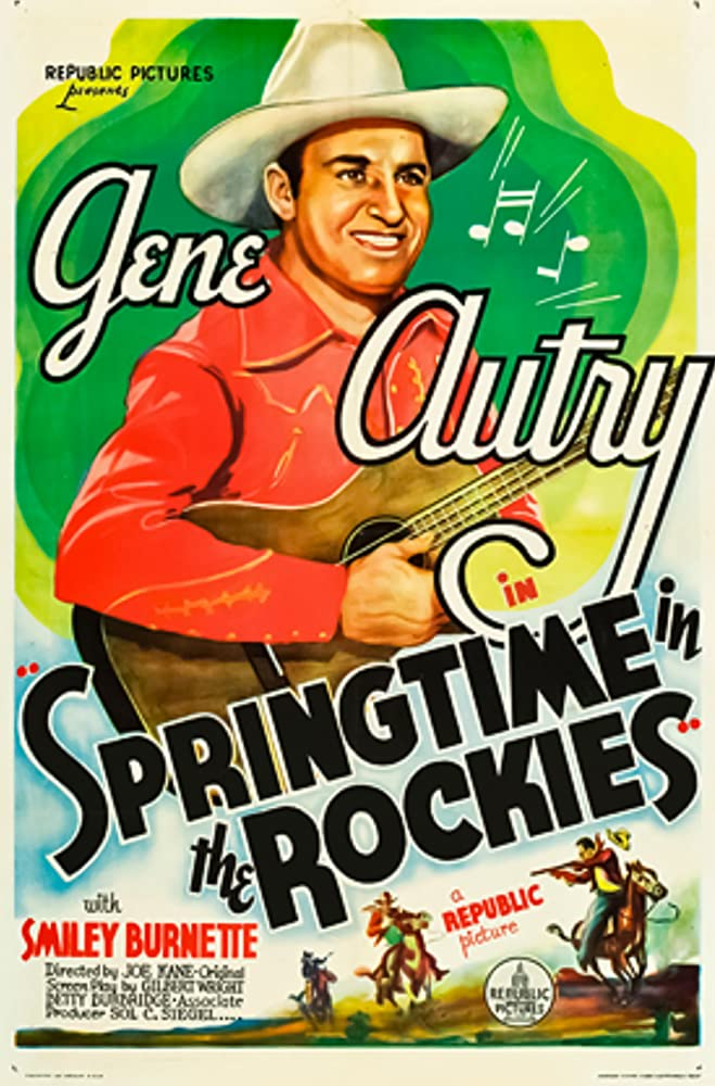 Gene Autry, Smiley Burnette, and Joseph Kane in Springtime in the Rockies (1937)