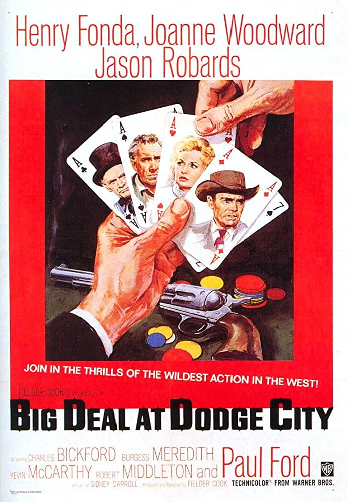 Henry Fonda, Jason Robards, Charles Bickford, and Joanne Woodward in A Big Hand for the Little Lady (1966)
