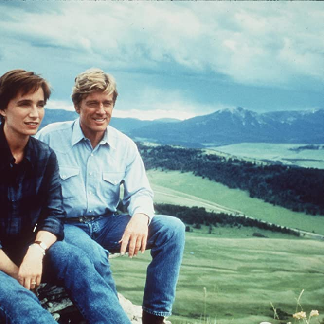 Kristin Scott Thomas and Robert Redford in The Horse Whisperer (1998)