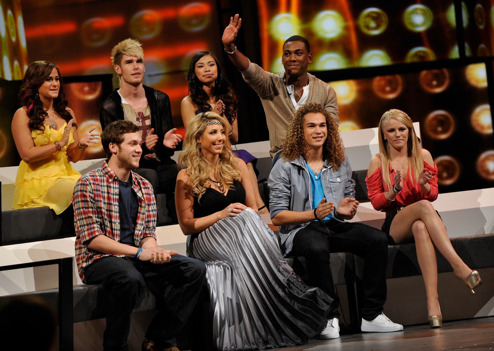 Hollie Cavanagh, Elise Testone, Skylar Laine, DeAndre Brackensick, Joshua Ledet, and Colton Dixon at an event for American Idol: The Search for a Superstar (2002)