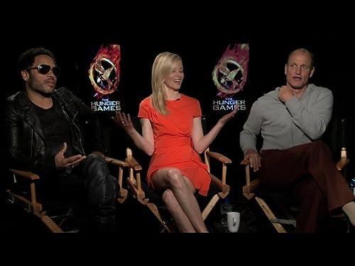Lenny Kravitz, Elizabeth Banks and Woody Harrelson
