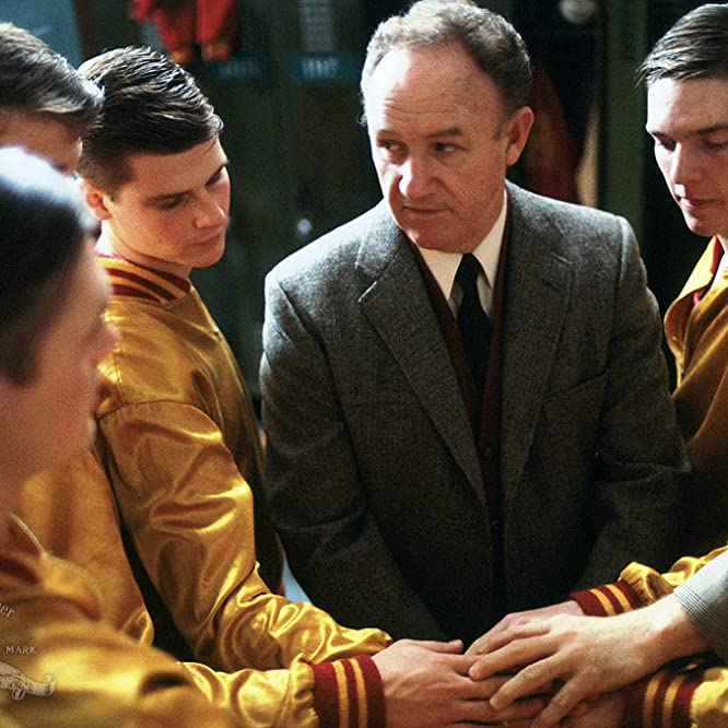Gene Hackman, Steve Hollar, Scott Summers, and Maris Valainis in Hoosiers (1986)