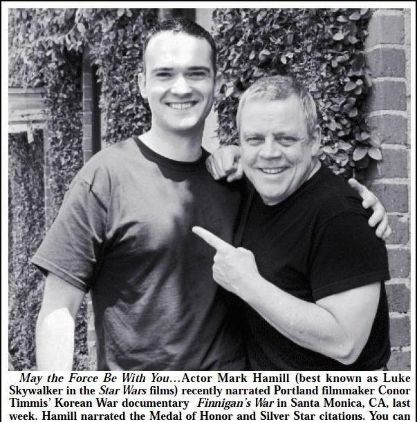 Mark Hamill and Conor Timmis in Finnigan's War (2013)