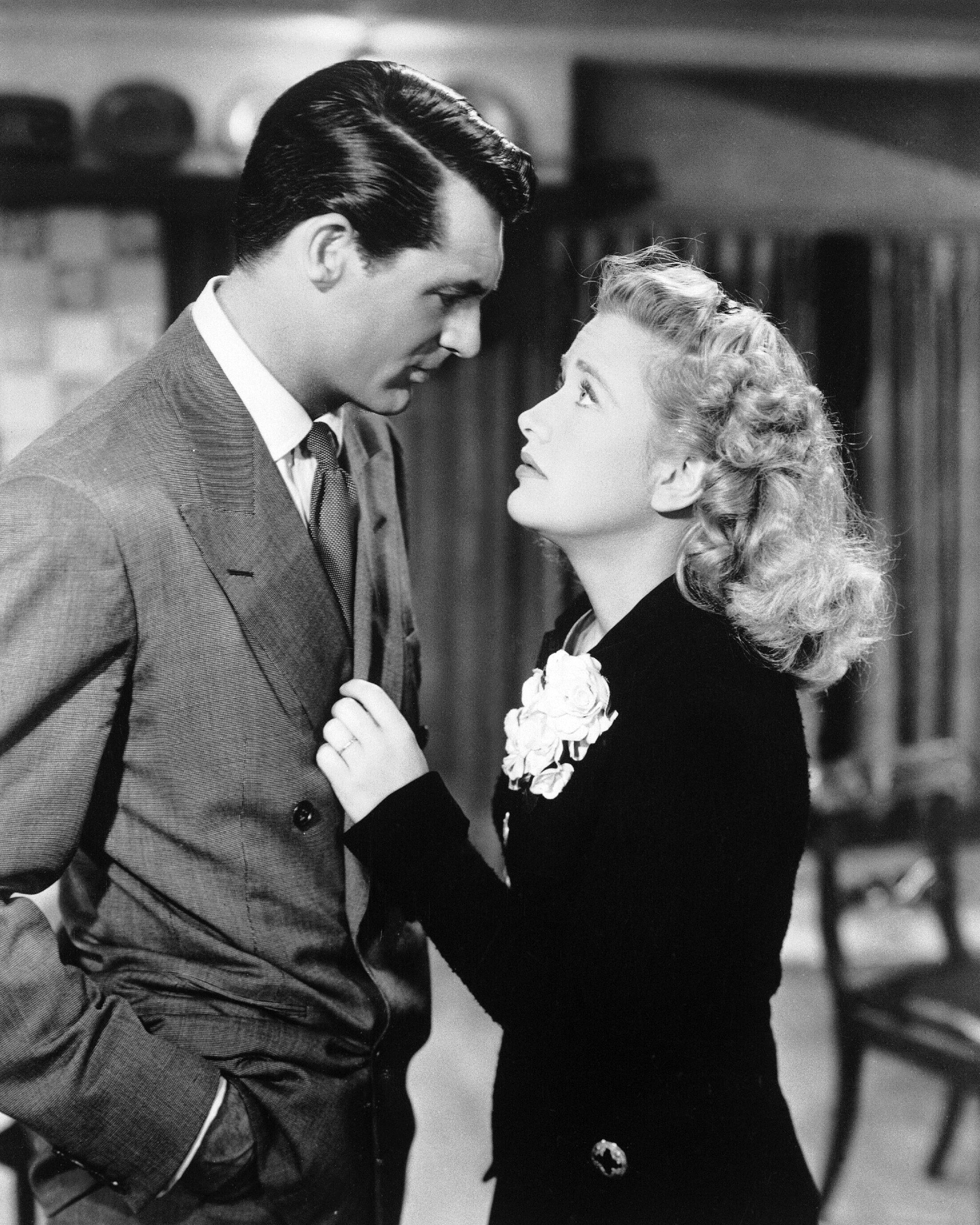 Cary Grant and Priscilla Lane in Arsenic and Old Lace (1944)