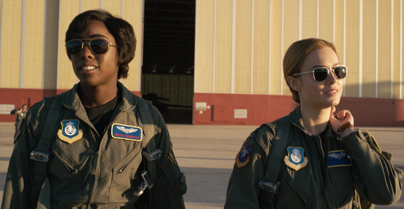 Brie Larson and Lashana Lynch in Captain Marvel (2019)