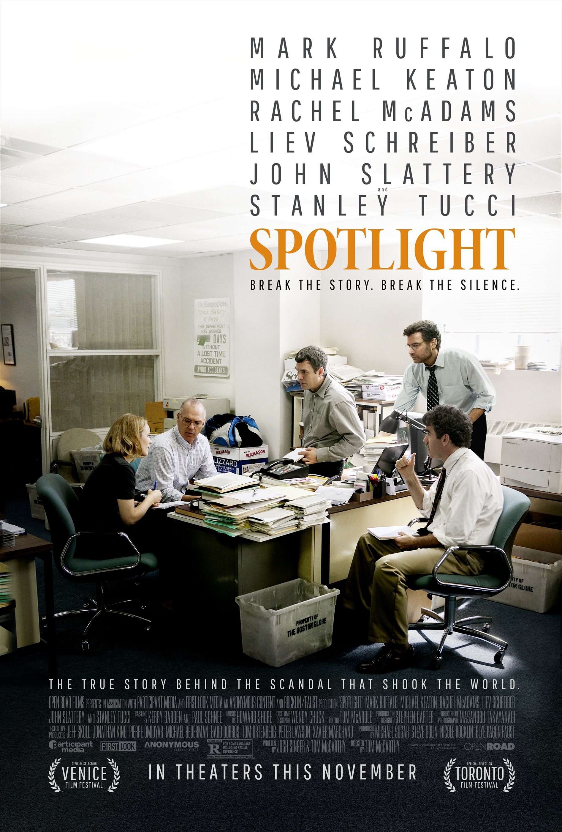 Image result for spotlight movie poster""