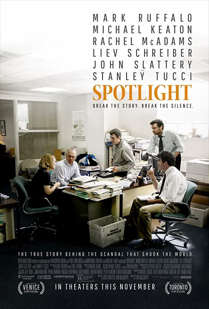 Michael Keaton, Liev Schreiber, Brian d'Arcy James, Mark Ruffalo, and Rachel McAdams in Spotlight (2015)