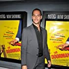 Lucas Akoskin at the premier of The Doorman